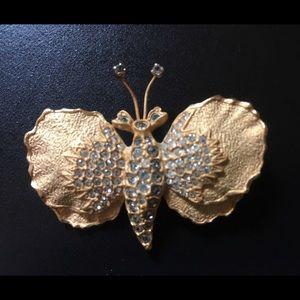 Vintage Philip Hulitar Butterfly Brooch/Pin 1950's